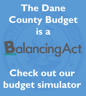 Slide about Dane County Budgeting